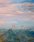 Red Sails at Morning  100 x 80