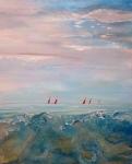 Red Sails at Morning  100 x 80