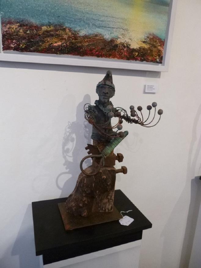 Jester, Raku, Wood and Metal, June 2015, 70cm